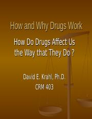 CRM 403 How and Why Drugs Work.ppt