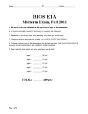 BIOS E-1a f11 exam 01 KEY