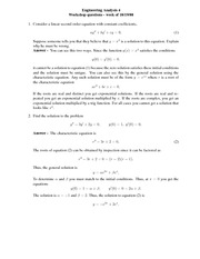 GSW Problem Set 3 Answers