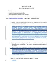 GLG103 Lab 09 - Groundwater Worksheet_Completed.doc