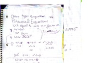 Polynomial Equations, class notes