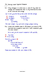 Solving Linear Equation Problems