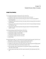 Ch. 16 Capital structure - basic concepts - Q-2