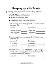 Clifying Matter Worksheet Key