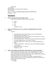 Home work Study questions Day 11