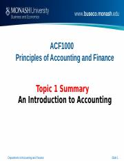 ACF1000 Topic 1 summary notes for lecture.ppt