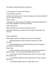 Criminology- Study Guide-Public Contributions