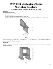 CVEN2301 Workshop Problems Centroid and Second Moment of Area.pdf