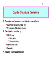 4. Capital Structure