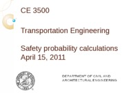 Safety probability calculations
