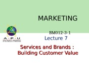 Services and brands