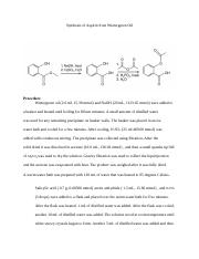 Synthesis of Aspirin from Wintergreen Oil.docx
