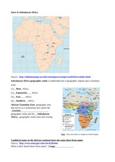 Outline Notes and Study Questions for Lecture #1- Intro to Subsaharan Africa