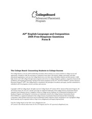 college board ap english language and composition essays