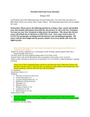 Potential Final Exam Essay Questions - Clemson(2) (1)