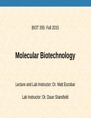 Intro lecture BIOT 355 POST.ppt