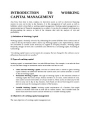 INTRODUCTION TO WORKING CAPITAL MANAGEMENT.doc