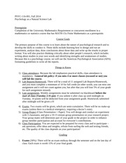 Syllabus Fall 2014 Psychology as Natural Science Lab