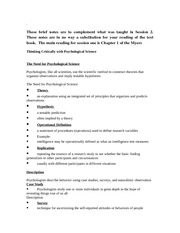 Research Design and Measurement Notes
