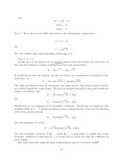 Differential Equations Lecture Work Solutions 21