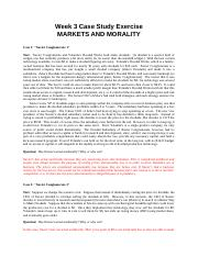 Week 3 Cases--Markets and Morality-.rtf