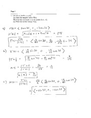 Exam 1 Solution Spring 2007 on Calculus and Analytic Geometry IV