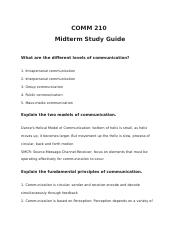 Comm 210 Midterm Study Guide.docx