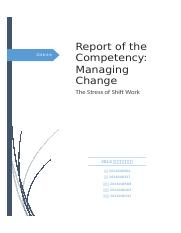 Report of the Competency Managing Change-The Stress of Shift Work