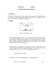 D- PHYS102 - LAB 4- Capacitors