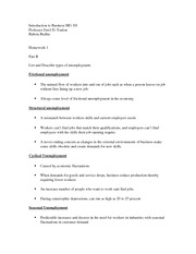 Introduction to Business hw 1B MG 101