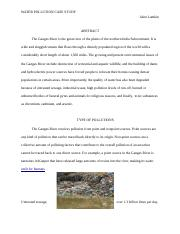 WATER POLLUTION CASE STUDY