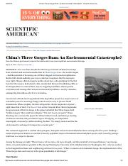 China's Three Gorges Dam_ An Environmental Catastrophe_ - Scientific American.pdf