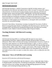 Self-Directed Learning Research Paper Starter - eNotes.pdf