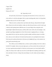 Gregory's Essay