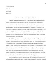 First Draft of a Rhetorical Analysis of a Public Document-ConniE.doc