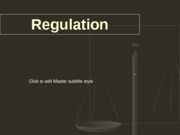 Regulation Lesson 1 RTV 3007