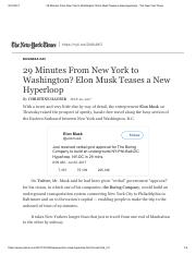 29 Minutes From New York to Washington_ Elon Musk Teases a New Hyperloop - The New York Times.pdf