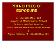 PRINCIPLES OF EXPOSURE (TOXICOLOGY OVERVIEW)