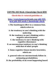 UOP PHL 320 Week 1 Knowledge Check NEW