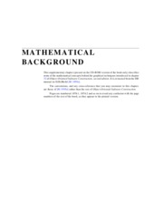 MATHEMATICAL BACKGROUNDS