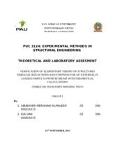 Theory and Laboratory assement Gp 1 rev1