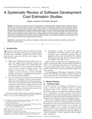 CostEstimation Studies