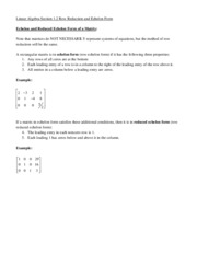 Linear Algebra Section 1.2 Notes Fa13