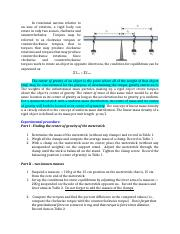 Physics 201 (lab 8) Torques, Equilibrium, and Center of Gravity.docx