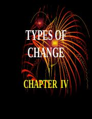 4. TYPES OF CHANGE