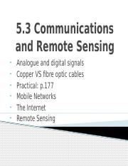 Communications and Remote Sensing v2
