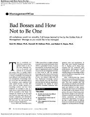 Reading1.Bad Bosses and How Not to Be One.pdf