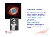 1.  Atoms and Elements