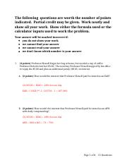 Finance Hw solutions