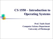 2013-08-29 Operating System Architecture and Design